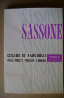 PBX/28 SASSONE 1967 Francobolli ITALIA -TRIESTE - VATICANO - S.MARINO - Italia