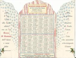 CAL440 - CALENDARIETTO DA TAVOLO 1961 - ORFANATROFIO FEMMINILE ANTONIANO - GIARDINI MESSINA - Calendari
