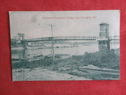 KY - Kentucky > Covington  Suspension Bridge--  Kramer Art Co 1910 Cancel -  Ref-1085 - Covington