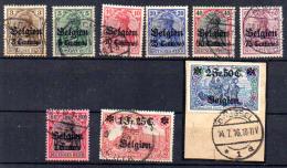 Allemagne Surchargés BELGIEN  , OC 1 / 9  Ø, Cote 90 €, - Guerre 14-18