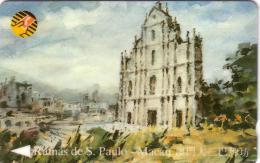 MACAU MACAO RUINAS DE SAN PAULO GPT N° 9MACB....50U UT ANCIENNE CARTE - Macao