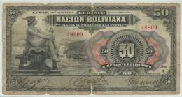 Bolivia 50 Bolivianos 1911 Repaired (NO Overprint) - Bolivia