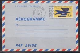 = 1002-AER Emblème Des PTT 38 Moirans, Isère 29.3.1974 - Luftpostleichtbriefe