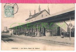 16 : COGNAC , La Gare , Quai De Depart - Cognac