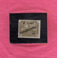 OCCUPAZIONE ITALIANA FIUME 1921 COSTITUENTE FIUMANA 45 CENT. MLH - 8. Occupazione 1a Guerra