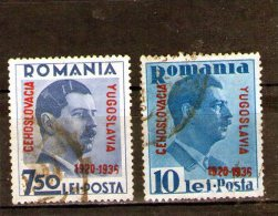 1936 - 16 ANNIV. DE LA PETITE ENTENTE  Mi No 522/523 Et Yv 510A/510B - Gebraucht
