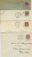 CACHET LOT VAYLATS LE BOURG LE BOULVE LAROQUE DES ARCS - Postmark Collection (Covers)
