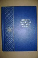 PBX/35 Album Whitman Monete LIBERTY WALKING Half Dollars 1941 - 1947. - Estados Unidos