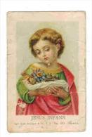 """IMAGE PIEUSE Benziger Einsiedeln : """" Jesus Infans - Les Fleurs De La Passion """" - Imágenes Religiosas"""