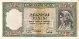 BILLETE DE GRECIA 1000 DRACMAS  DEL AÑO 1939 (BANKNOTE) - Grecia