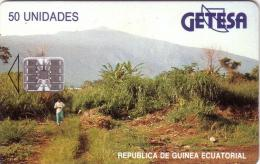 GUINEE EQUATORIALE PAYSAGE LANDSCAPE 50U SC7  UT - Guinée-Equatoriale