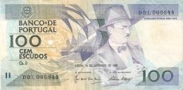 BILLETE DE PORTUGAL DE 100 ESCUDOS  DEL AÑO 1988 SERIE DBL (BANKNOTE-BANK NOTE) - Portugal