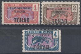 Tchad N°19 à 21 (*) NsG - Nuovi