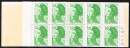 2318 C1 Carnet Ouvert Numéro 511571,70 Liberté Vert Code Postal Presse 8 - Carnets