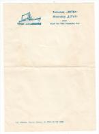 """Papier à Lettre - Bateau - Paquebot - MOTORSHIP """" LITVA """" USSR. BLACK SEA STATE STEAMSHIP LINE (Russie) - Boats"""