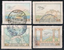 Griechenland 1936, MiNr. 300-303, Flugpost, Gestempelt, Used, Cat. 40,-- - Usati