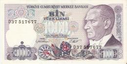 BILLETE DE TURQUIA DE 1000 LIRAS DEL AÑO 1970  (BANK NOTE) - Turquia