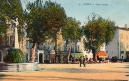 VAR 83 CUERS PLACE CARNOT AVEC FONTAINE AU COQ - Cuers