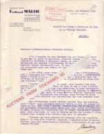 Lettre 1945 NAMUR - Ferdinand MALOU - Armement Fluvial - Transports Par Eau - Affrêtements - België