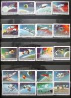 Timbre FUJEIRA Série De 20 Timbres PRESENT AND FUTURE SPACE ACHIEVEMENTS Emirats Arabes Unis Lollini Espace - Space