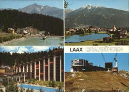 "Kk46597 Laax Sporthotel ""Happy Rancho"" Swimming Pool Panorama Mit Signina See Bergstation Seilbahn Kat. Laax - GR Graubünden"