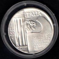 ITALIA - RIPRODUZIONE FALSA MONETA 20 L. - MEGLIO VIVERE UN GIORNO DA LEONI CHE 100 ANNI DA PECORA - MUSSOLINI 1928 - Italia