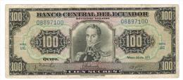 Ecuador , 100 Sucres 1971, VF. - Ecuador