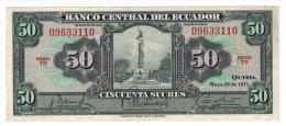 Ecuador,  50 Sucres 1971, VF/XF. - Ecuador