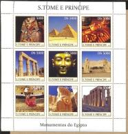 MINT NH STAMPS OF SAO TOME E PRINCIPE  1460  MONUMENTS OF EGYPT - Sao Tome Et Principe