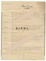 Page Manuscrite : Explications Pour Le Tricot De Bas à Jours  15 X 20 Cm Traces Dâge - Laine