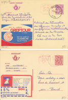 Trazegnies  1983  &  Brecht  1980 - Enteros Postales