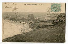 Ref 191 - TREGASTEL-PRIMEL - La Plage (CARTE PIONNIERE De 1903 - Scan Du Verso) - Primel