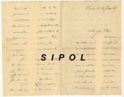 Lettre Dun Mécanicien à Bord De La Victorieuse  écrite De Toulon Le 23Juillet 1887 - Manuscripten