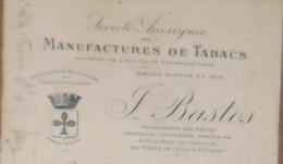 ORAN Algérie Effet De Commerce TABACS BASTOS 1922 - Documents