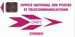 CONGO 1ERE CARTE 100U SC4 N°40487 GE UT - Congo