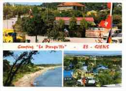 """RENAULT 4 F """"Poste"""", SIMCA Aronde Châtelaine - Camping """"La Presqu'Ile à Giens - Passenger Cars"""