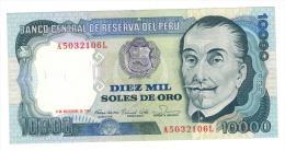 Peru 10 000 Soles, 1981, UNC. - Pérou