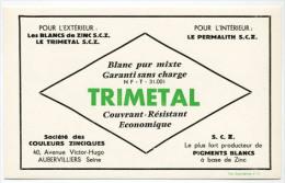 Buvard  TRIMETAL  Société  Des  COULEURS  ZINCIQUES - Papel Secante