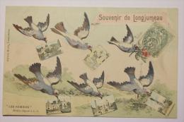 CPA Souvenir De Longjumeau - Multivues 1907 - MY05 - Longjumeau