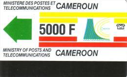 CAMEROUN  TELEPHONE EMS COURSE 5000F UT RARE - Cameroun