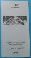 PLITVICE LAKES - Croatia Post Postage Stamp Prospectus* Waterfall Water Falls Geology Phenomenon Phénomène Géologique - Geology