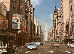 Kk41337 Buenos Aires Avenida Corrientes Obelisk Kat. Buenos Aires - Argentina