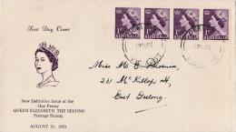 Australia 1953 Queen Elizabeth 1d FDC - FDC