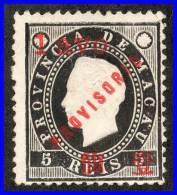 MACAO 1894 KING LUIZ WITH PROVISORIO SURCHARGE SC# 58 VF NGAI CV$11.00 - Macao