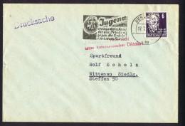 Innerdeutscher Postkrieg   Anti Kommunistischen Slogan Auf Dem Brief Nach Berlin West - Soviet Zone