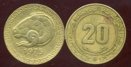ALGERIE 20 Centimes 1975 - Algeria