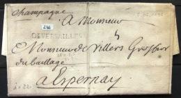 Marque Linéaire De VERSAILLES . 8/6/1696.    Indice 22 - Marcophilie (Lettres)