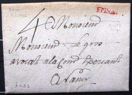 Marque Linéaire De EPINAL . 9/1/1766.    Indice 21 - Marcophilie (Lettres)
