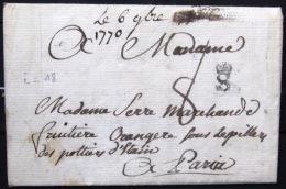 Marque Linéaire De ST ETIENNE.  6/10/1770.    Indice 18 - Postmark Collection (Covers)