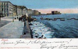 [DC7070] NAPOLI - VIA CARACCIOLO E CASTEL DELL'UOVO - Viaggiata - Old Postcard - Napoli (Naples)